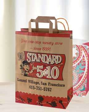Custom Paper Carry Out Bags