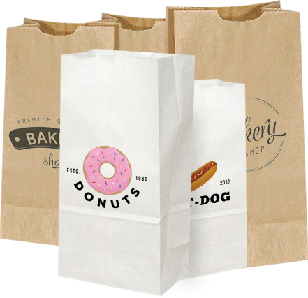 Custom Bagel and Donut Paper Bags