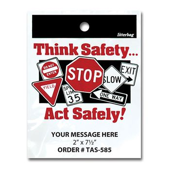 Stock Designs LitterBags - Think Safety
